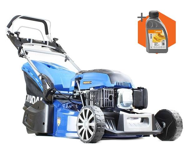 Hyundai HYM480SPR petrol self propelled real roller lawn mower (48cm cut)