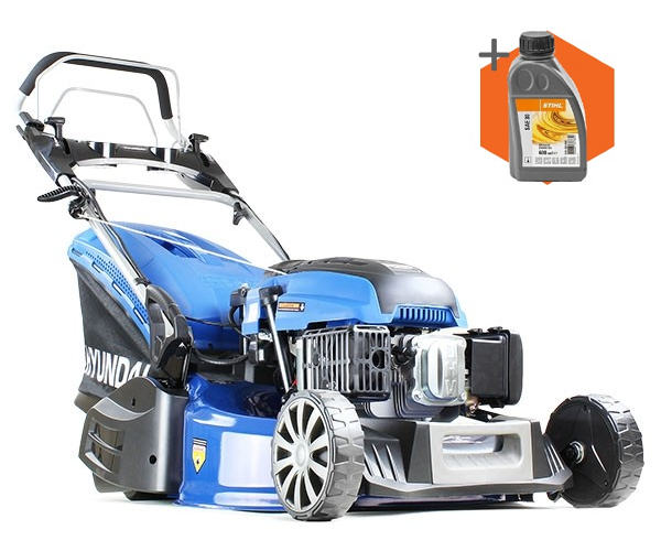 Hyundai HYM530SPER petrol self propelled rear roller lawn mower (52.5cm cut)