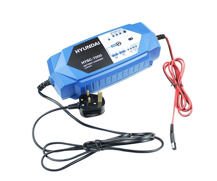 Hyundai HYSC-7000 smart battery charger (12V & 24V)