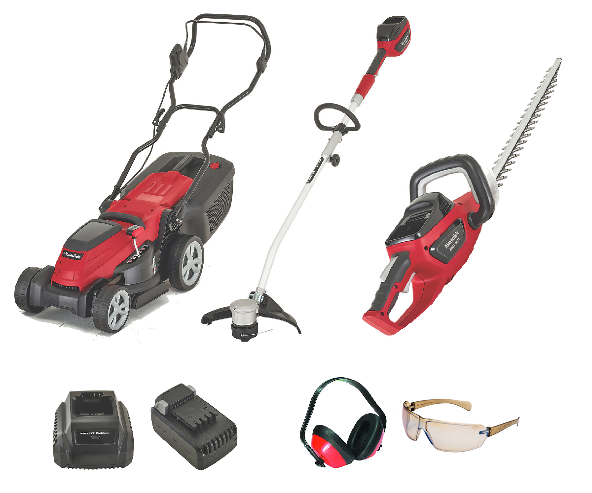 Mountfield 40V battery mower strimmer hedgecutter PROMO BUNDLE 2