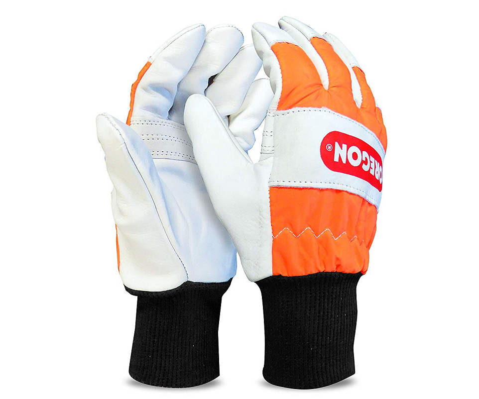 Oregon chainsaw protection safety gloves