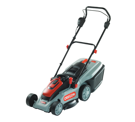 Oregon LM300 battery push four wheeled lawn mower (40cm cut) (shell only - no battery & charger)