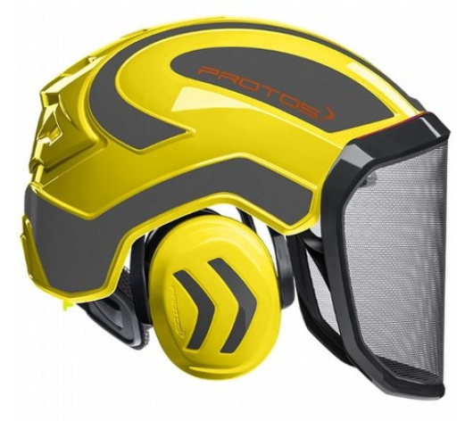 Pfanner Protos Integral forest helmet (ground use only) (Yellow/Grey)
