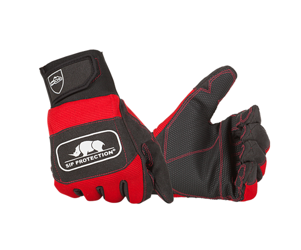 SIP Protection both hand protection chainsaw gloves (Class 1) (Red/black)