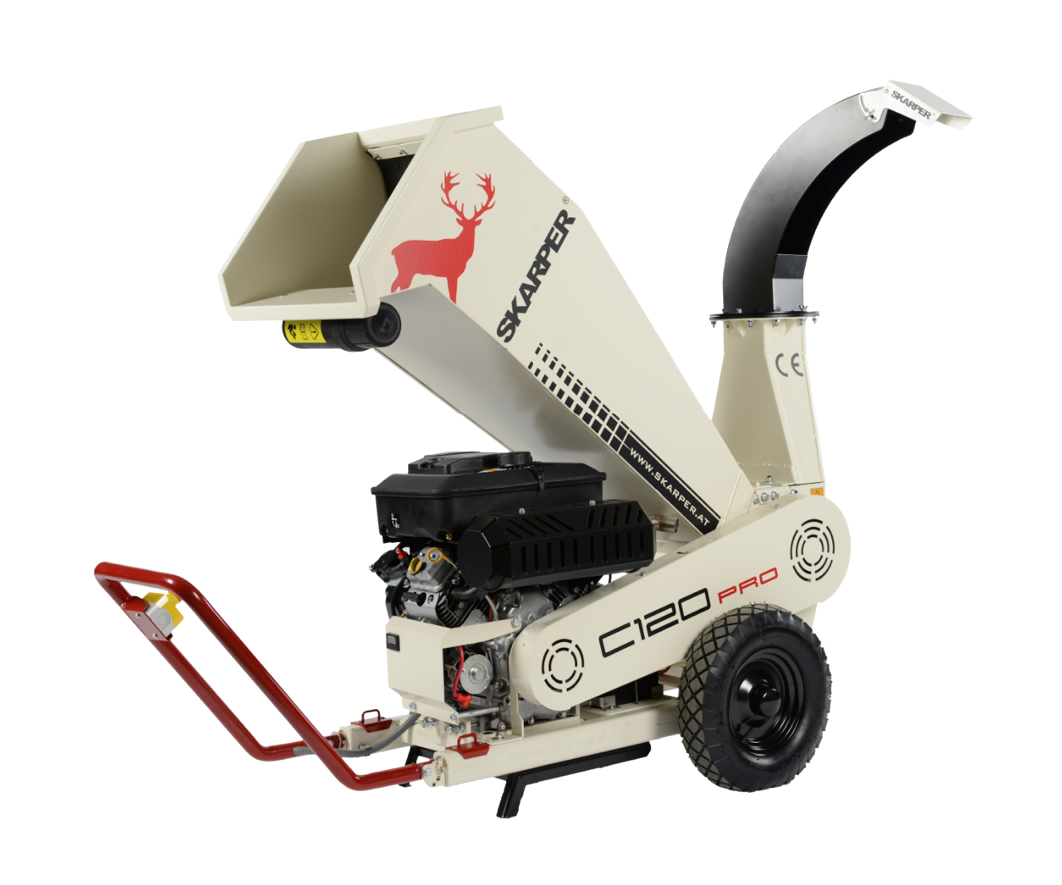 Skarper C120 PRO wood chipper (up to 120mm diameter)