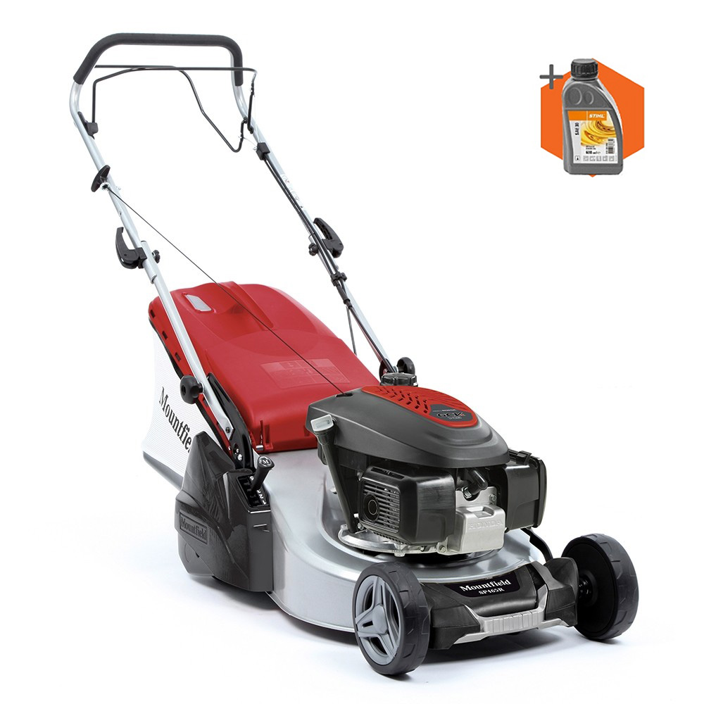 Mountfield SP465R petrol self propelled rear roller lawn mower (46cm cut)