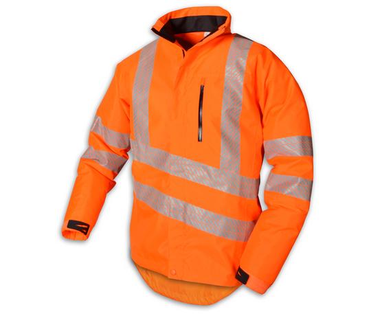 stein evo x25 all weather work jacket with hood hi viz orange - 2