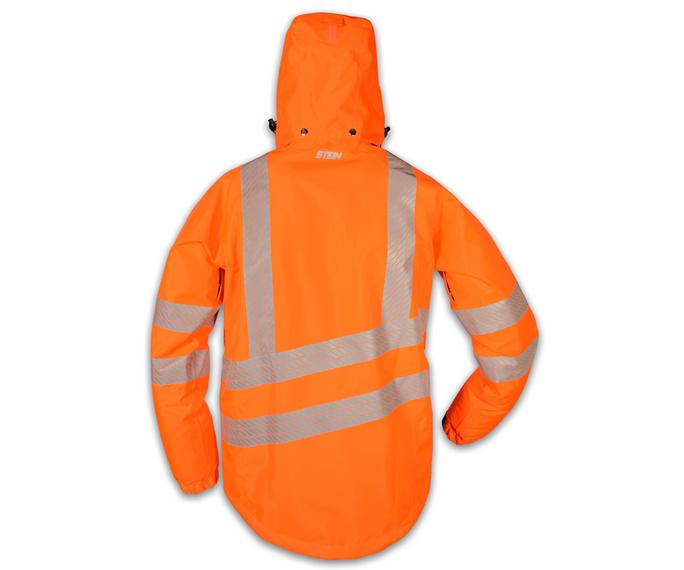 stein evo x25 all weather work jacket with hood hi viz orange - 3