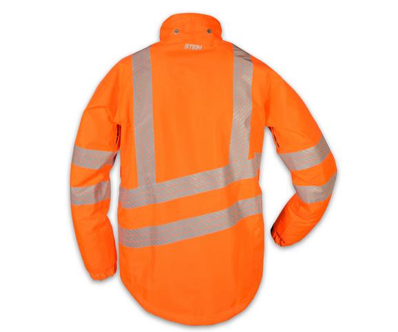 stein evo x25 all weather work jacket with hood hi viz orange - 4