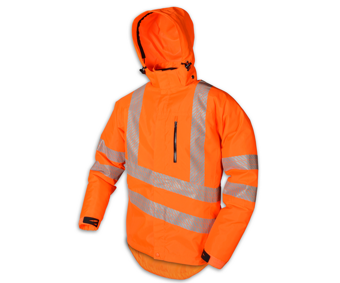 Stein Evo-X25 all weather work jacket with hood (Hi-Viz Orange)