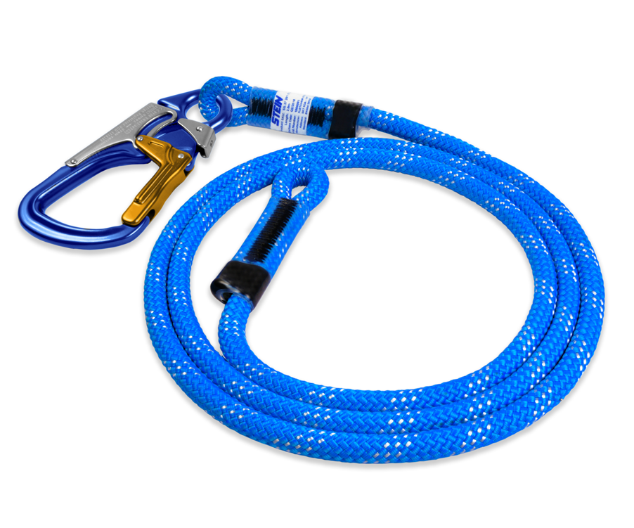 Stein SCE work positioning lanyard with 3 way snap (Blue)