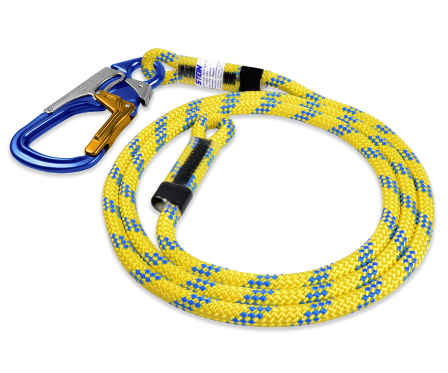 Stein SCE work positioning lanyard with 3 way snap (Yellow) (5m)