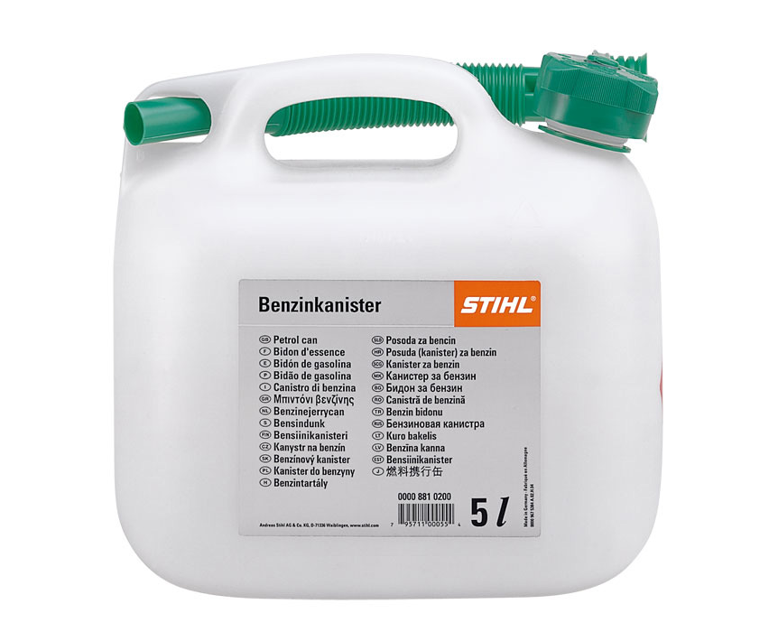 Stihl 5 litre petrol can (transparent)