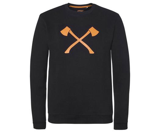 Stihl Timbersports 'Axe' sweatshirt (Black/Orange)