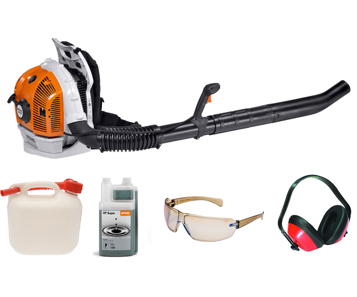Stihl BR 600 backpack blower (64.8cc) 4-mix (Machine with PROMO BUNDLE)