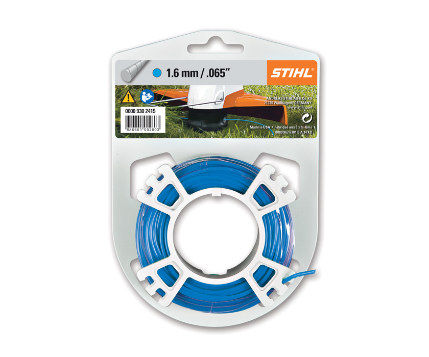 Stihl 1.6mm round, quiet strimmer line (19m) (Blue)