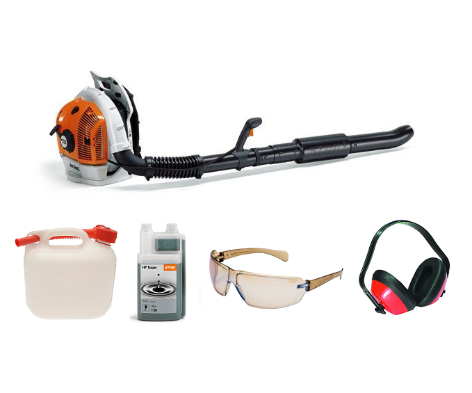 Stihl BR 500 backpack blower (64.8cc) 4-mix (Machine with PROMO BUNDLE)
