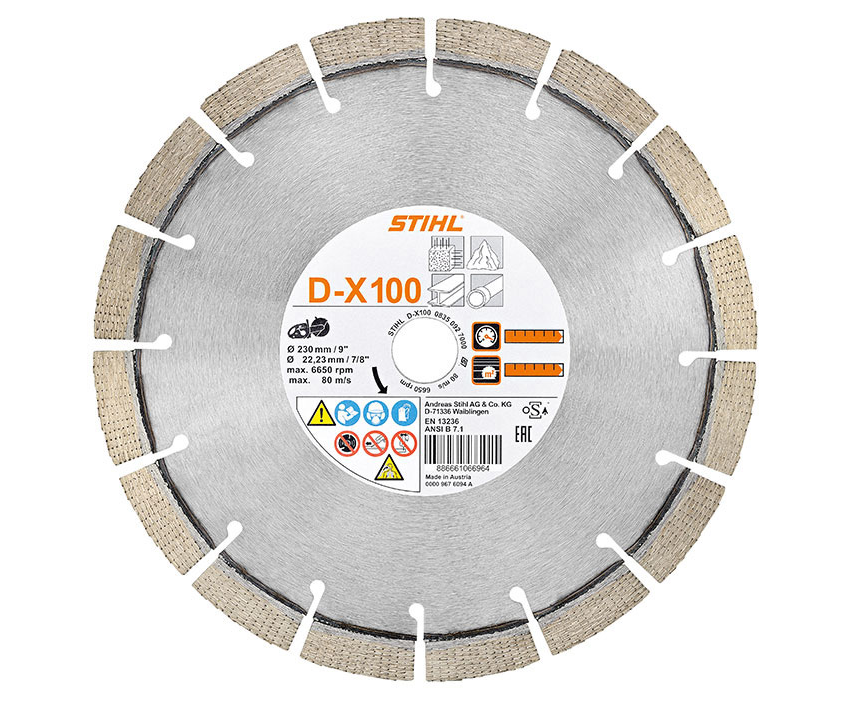 Stihl D-X100 Diamond cutting wheel (concrete/granite/ductile cast iron pipes) (9 inch)
