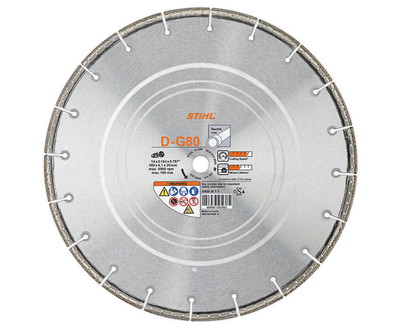 Stihl D-G80 Diamond cutting wheel (ductile iron)