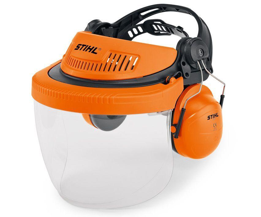 Stihl G500 polycarbonate visor and ear defenders kit