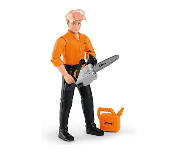 Stihl children's forestry worker action figure