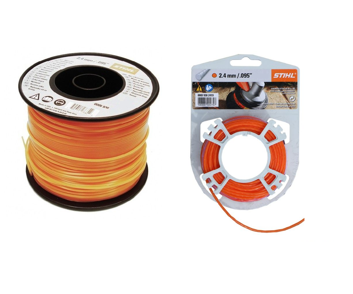 Stihl 2.4mm round, quiet strimmer line (Orange)