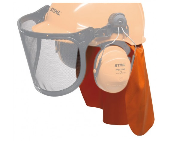Stihl internal rain protection attachment for helmet sets