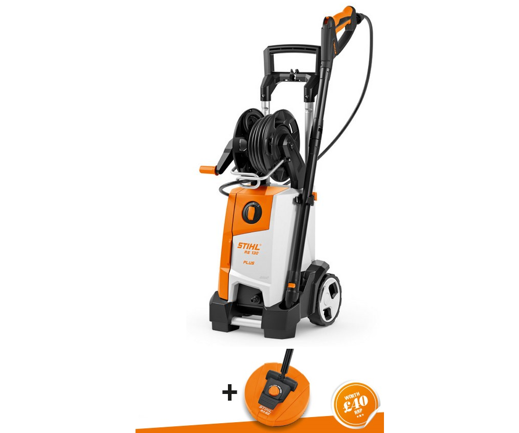 Stihl RE 130 Plus pressure washer (comes with RA82 surface cleaner)