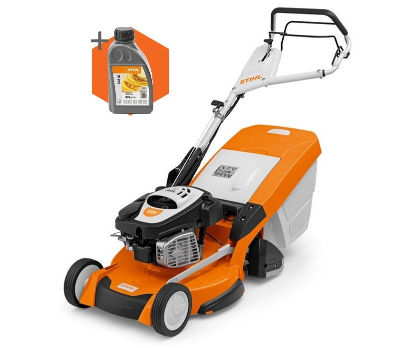Stihl RM 655 RS petrol self-propelled rear-roller lawn mower (53cm cut)
