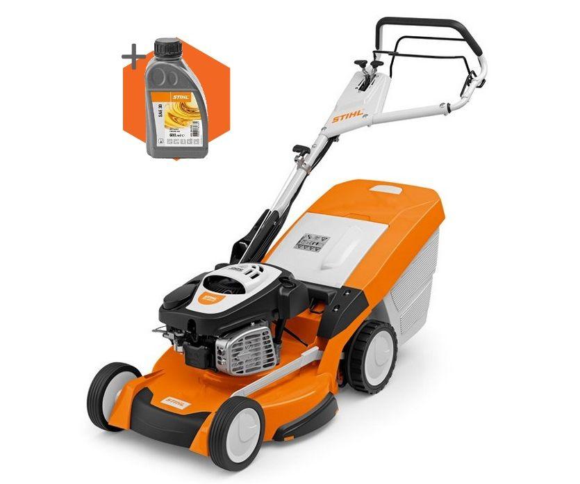 Stihl RM 655 VS petrol self-propelled four wheeled lawn mower (53cm cut)