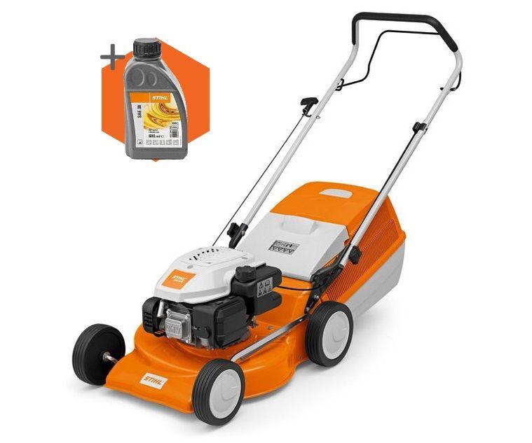 Stihl RM 248 petrol push four wheeled lawn mower (46cm cut) (EX-DISPLAY)