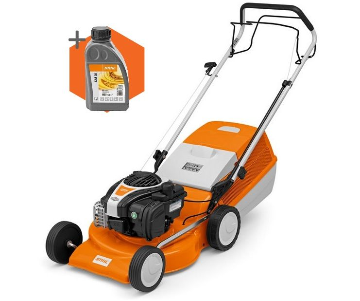 Stihl RM 248 T petrol self-propelled four wheeled lawn mower (46cm cut)