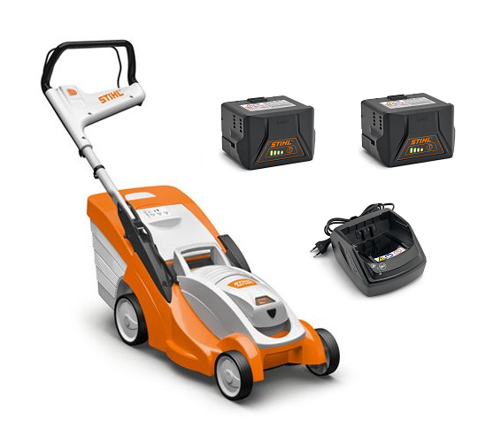 Stihl RMA 339 C battery push four wheeled lawn mower (37cm cut) (EX-DISPLAY) (PROMO KIT (with 2 x AK 20 battery & 1 x AL 101 charger))