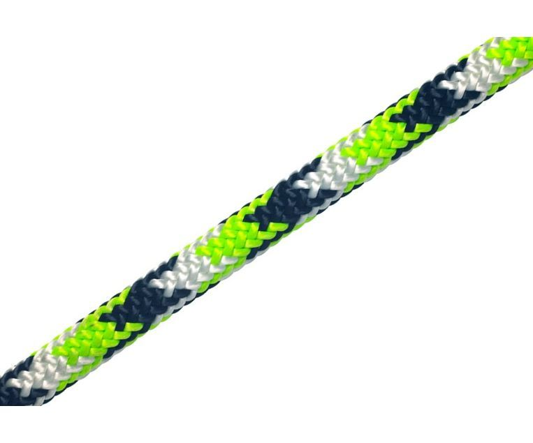 New England Tachyon 11.5mm climbing rope (Green, Black & White) (slaiced)