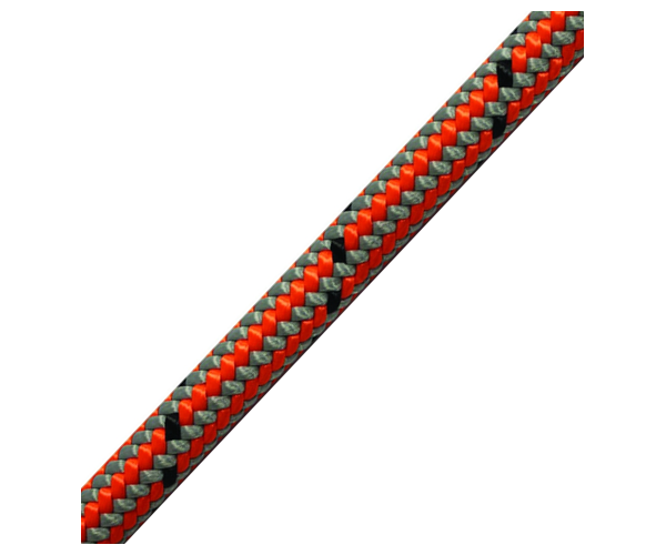 Marlow Vega 11.7mm climbing rope (spliced) (Grey & Orange)