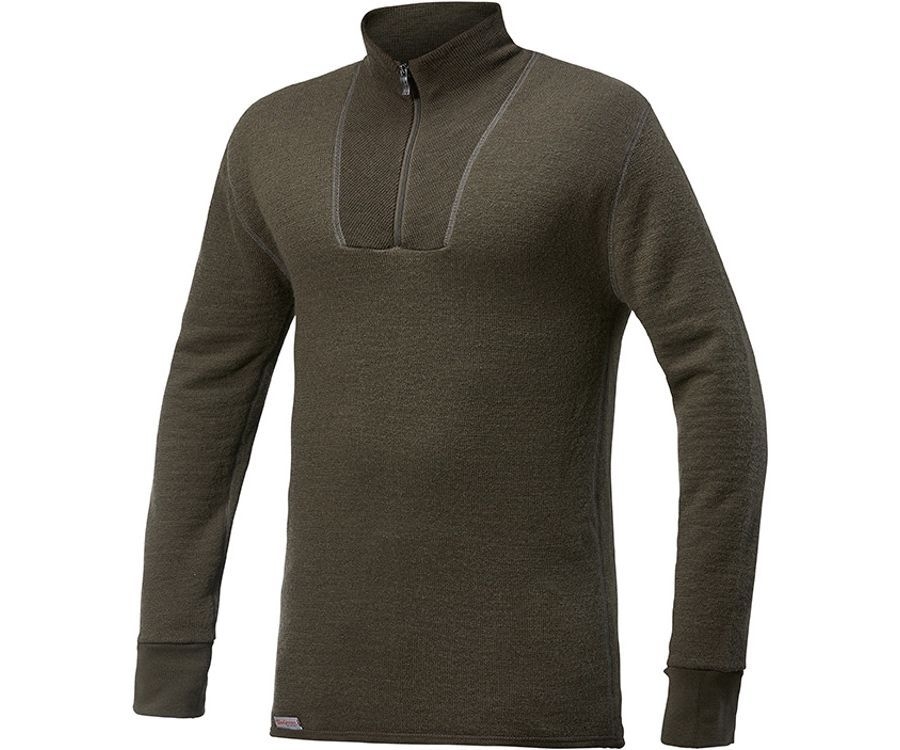 Woolpower Ullfrotte 400 mid layer long sleeve turtleneck (Pine Green)