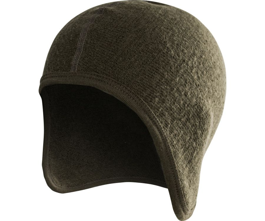 Woolpower Ullfrotte 400 under-helmet cap (Pine Green)