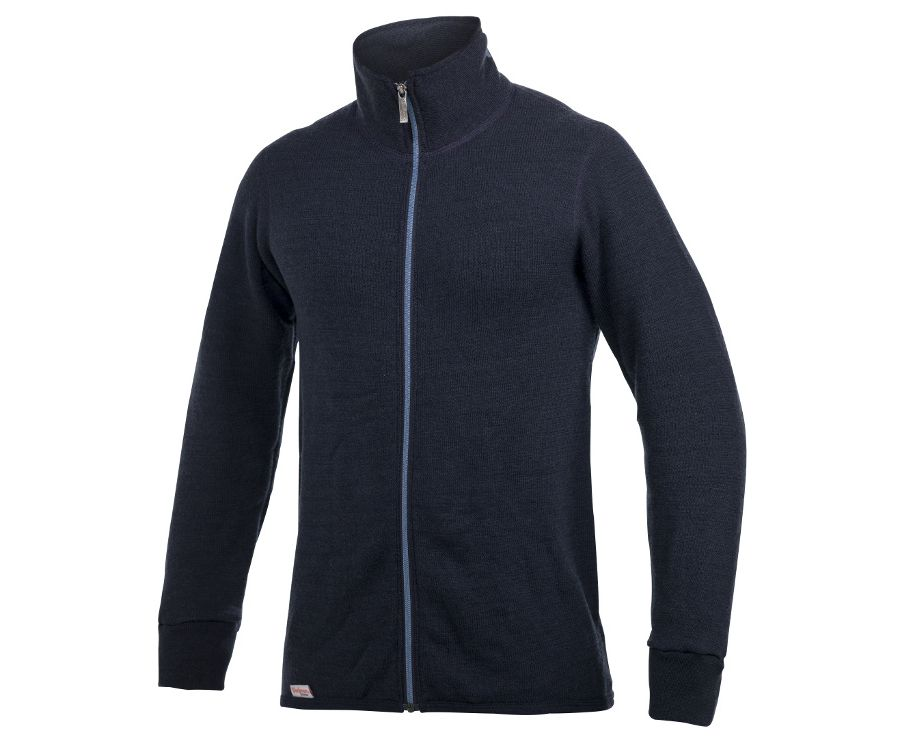 Woolpower Ullfrotte 400 mid layer long sleeve zipped jacket (Navy)